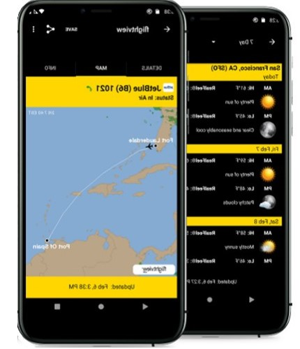iOS mobile flight tracker app